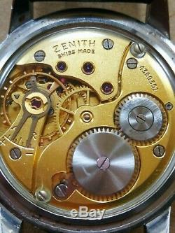 RARE VINTAGE SWISS WATCH ZENITH SPORTO 18K GOLD F. CAL. Zenith 126-5 CIRCA 1955