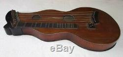 RARE Vintage 1850 Swiss Glarner Cittern/Zither, Museum Grade withDual Soundholes