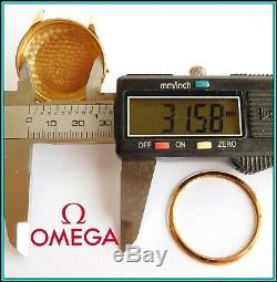 RARE Vintage 18K Solid Gold OMEGA GENEVE 2982 wristwatch CASE circa 1960's SWISS
