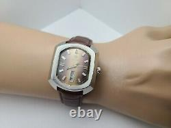 RARE Vintage Nivada mustang 74 Automatic Men's watch FHF 908 swiss made 1970s