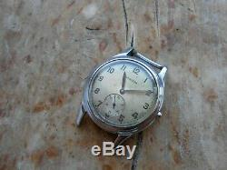 RARE! Vintage swiss military style stainless steel watch LONGINES, 1940-50s