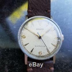 ROLEX Men's Rare Manual Hand-Wind 3742 Military Watch c. 1938 Swiss Vintage MS101