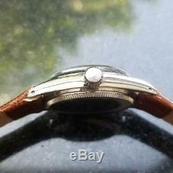 ROLEX Men's Rare Oyster Perpetual 6549 Automatic, c. 1965 Swiss Vintage LV529BR