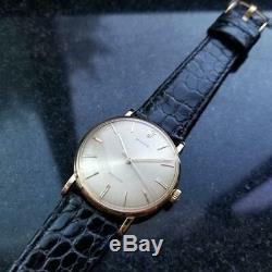 ROLEX Rare Men's 18k Gold Precision 9659 Hand-Wind, c. 1950s Swiss Vintage LV682