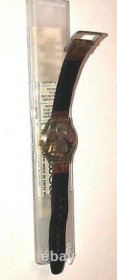 Rare 1990 Vintage Swatch Originals Swiss Watch 007 Goldfinger Chrono 22 Jewels