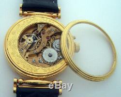 Rare ANTIQUE Hy. MOSER Schaffhausen Swiss Wristwatch Gilt case