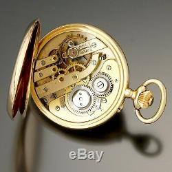 Rare Antique Diamond and Ruby 14K Gold Case Swiss Pocket Watch CA880s