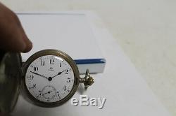 Rare Antique Vintage Old Swiss Made Omega Grand Prix Full Hunter Pocket Watch