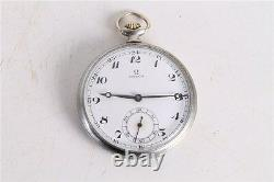 Rare Antique Vintage Old Swiss Made Omega Open Face Pocket Watch