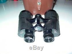 Rare Gem KERN AARAU FOCALPIN 7 Vintage Swiss 7 x 50 Binoculars + Leather Case