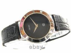 Rare! Gucci 3000sm Sterling Silver Men's Vintage Swiss Made Watch Quartz