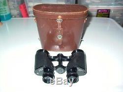 Rare KERN AARAU FOCALPIN 6 Vintage Swiss 6 x 40 Binoculars + Kern Leather Case