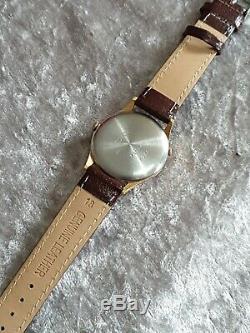 Rare Mens Gold Plated PIERPONT TRIPLE DATE Pointer Swiss Mechanical Wristwatch