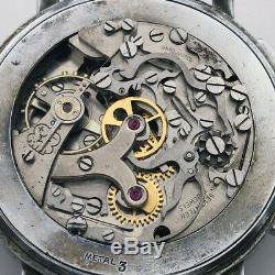 Rare Old Militarian Chronograph BREITLING Venus 170 Vintage Swiss Wristwatch