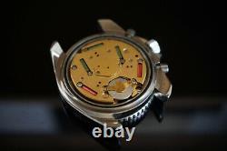 Rare Paul Monet, Monnin case Heuer mrp, 70s vintage swiss diver chronograph