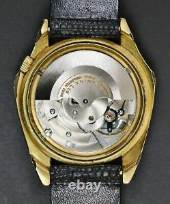Rare Running Vintage Zodiac Olympos Mystery Dial 17 Jewel Automatic Swiss Watch