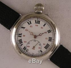 Rare SILVER CASE ORIGINAL Just Serviced BONNE 1900 Swiss Wrist Watch Perfect