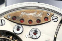 Rare Swiss ANTIQUE Georges Favre-Jacot Wristwatch Steel Case Enamel Dial Zenith