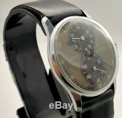 Rare Vintage 1940s Lathin Special Regulator Swiss Watch