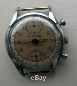 Rare Vintage 1970's PIERCE CHRONOGRAPH ANTIMAGNETIC Men's Swiss Wristwatch