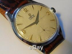 Rare Vintage 50s OMEGA CENTURY cal. 266 Textured Dial Case 35mm Swiss Men's Watch