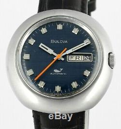 Rare Vintage BULOVA King Diver Day Date Automatic Swiss Mens Wrist Watch 1970