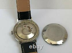 Rare Vintage BWC Automatic All Steel Grey 25J ETA 2452 Swiss Made Men`s Watch