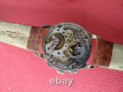 Rare Vintage Baume Mercier Swiss Chronograph Manual Wind Wristwatch 1454