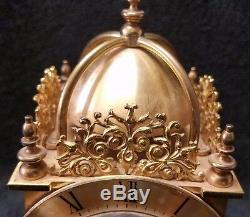 Rare Vintage Brass Swiza 8 Day Travel Alarm Clock Made in Swiss