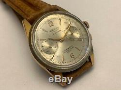 Rare Vintage CAUNY Prima Chronograph Swiss Watch LANDERON 248 size 37mm
