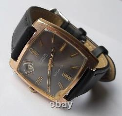 Rare Vintage GANDER Incabloc 17Rubis Date Displaying FHF82-4 Swiss Made From60'S