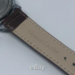 Rare Vintage Helbros Alarm & Date Swiss Made Winds & Runs Alarm Works