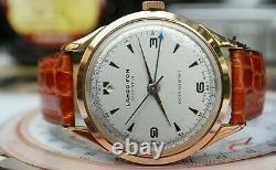 Rare Vintage Lanco-Fon Mens Alarm Watch Swiss Made Langendorf 1241 Movement