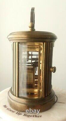 Rare Vintage Matthew Norman Miniature Oval Carriage Mantel Clock Freepost Uk