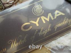 Rare Vintage Men's 1980's CYMA Belgium national Football team watch, Swiss made