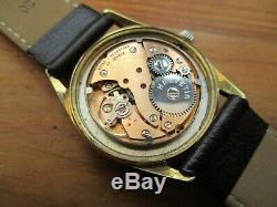 Rare Vintage Men's HELVETIA brushed dial Swiss Made mechanical timepiece