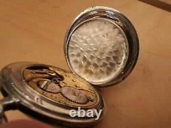 Rare Vintage OMEGA Silver Pocket Watch Swiss Made Working Condition