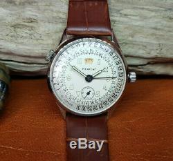 Rare Vintage Pierpont Swiss Calendar White Dial Manual Wind Man's Watch