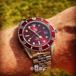 Rare Vintage Red Tag Heuer 1000 Professional Swiss Quartz Divers Watch 980.913N