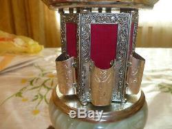 Rare Vintage Reuge Carousel Music Box Cigar Cigarette Lipstick Holder Swiss