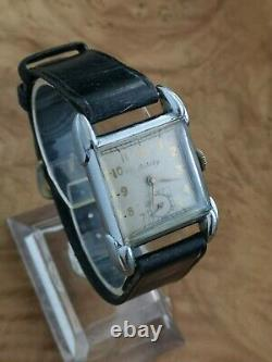 Rare Vintage Rotary Mens Wrist Watch 1940s Swiss 15J cal. 440 28mm working