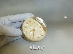 Rare Vintage Swiss Concord Lucite Crystal Ball Clock 15 Jewel Wind up Movement
