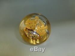 Rare Vintage Swiss Imhof Lucite Crystal Ball Clock 15 Jewel Wind up Movement