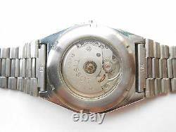 Rare Vintage Swiss Made Stainless Steel Tissot Automatic Mens Wristwatch