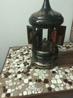 Rare Vintage Swiss REUGE Lipstick/Cigarette Holder Carousel Music Box
