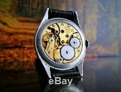 Rare Vintage Swiss Watch Longines Calatrava Cal. 12.68z G/ 18k Fill Circa 1952