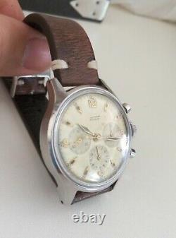 Rare Vintage Tissot Chronograph Ww2 Lemania Mov. Ch27 Man's Swiss Watch