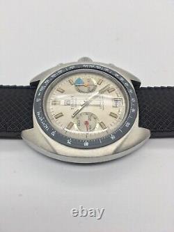 Rare Vintage Tissot Seastar Navigator Valjoux 7733 Swiss Chronograph