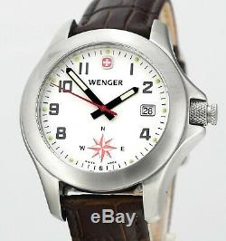 Rare Vintage Wenger Swiss Army 7203X Mens Compass Wrist Watch