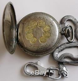 Rare Zenith Swiss Pocket Watch-grand Prix Paris 1900
